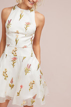 Anthropologie ML Monique Lhuillier Silk Halter Dress $550 Sz 8P - NWT - $193.54