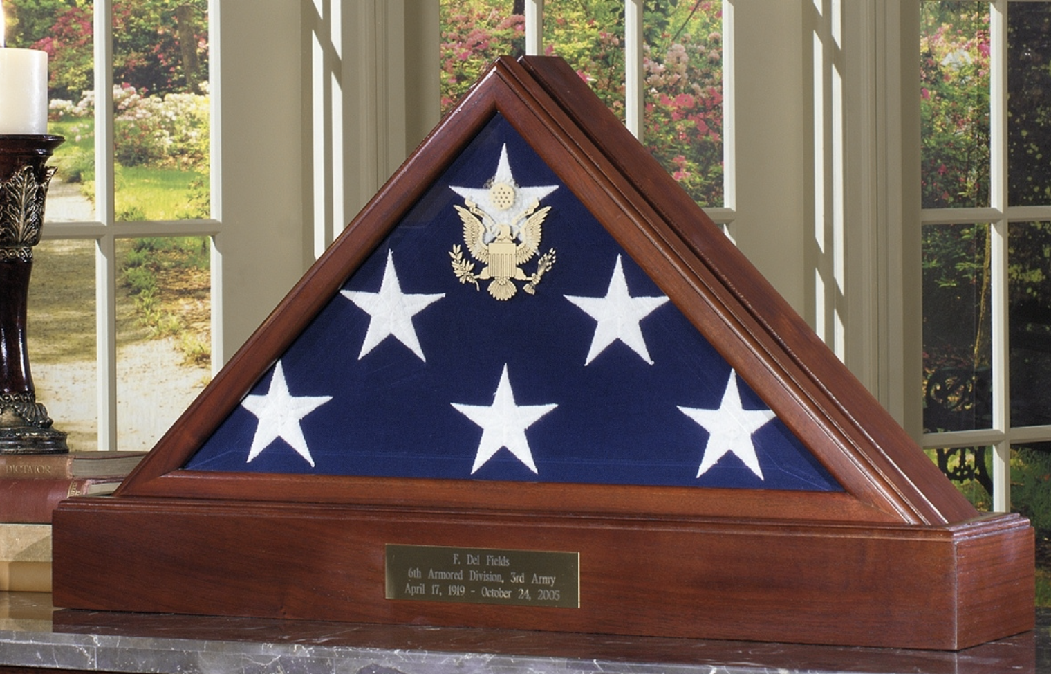 Primary image for AMERICAN FLAG CASE WITH PEDESTAL BURIAL MEMORIAL FLAG DISPLAY CASE SHADOW BOX