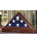AMERICAN FLAG CASE WITH PEDESTAL BURIAL MEMORIAL FLAG DISPLAY CASE SHADO... - $769.49