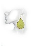 Green Earrings, Light Green Earrings, Spring Green Earrings, Statement E... - $28.00