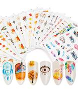 Mixed Decal Nail Water Sticker Dream Catcher Autumn Flower Leaf Slider N... - $2.98