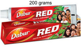 6 TUBES!  Dabur 200grams Each Red Herbal ToothPaste USA SELLER FAST SHIP... - $30.00