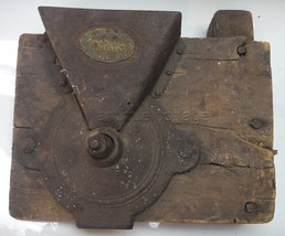 antique KING PATENT COFFEE MILL grinder CAST IRON mnt folk art SQUARE NA... - $224.95