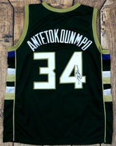 GIANNIS ANTETOKOUNMPO SIGNED PRO SYTLE CUSTOM GREEN JERSEY JSA AUTHENTIC... - $177.21