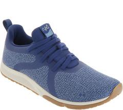Ryka Knit Slip-on Sneakers Walking Shoes - Fizz 2 Medieval Blue 6 W - $49.49