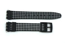 12mm Ladies White Checkered PVC Replacement Watch Band Strap fits SWATCH... - $9.88