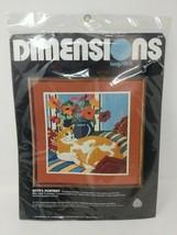 Dimensions 2272 Kitty's Cat Portrait Longstitch Embroidery Cross Stitch Kit Set - $29.69