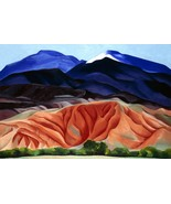 Black Mesa Landscape, New Mexico Painting by Georgia O'Keeffe Art Reprod... - $32.99+