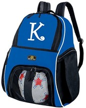 Personalized Soccer Backpack Custom Soccer Ball Gear Bag Blue - $82.59 CAD