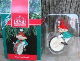 1990 Hallmark Hark It's Herald #2 Drummer Christmas Ornament - $20.00