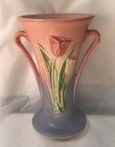 Hull Pottery USA Tulip Sueno 100-33-8 inch vase Pink - $38.61