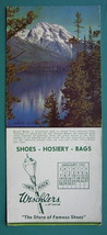 INK BLOTTER 1951 - Mount Moran & AD for Weschlers Shoes Erie Pennsylvania - $4.49