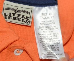 Little Rebels Surf Club Short and Shirt Set Orange Plaid Size 2T image 4