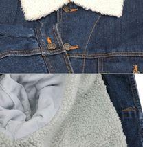 Men's Classic Button Up Sherpa Fleece Lined Cotton Denim Trucker Jean Jacket image 10