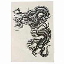 ULTNICE Temporary Arm Tattoos Large Black Dragon Temporary Tattoo Sticker For - $13.22
