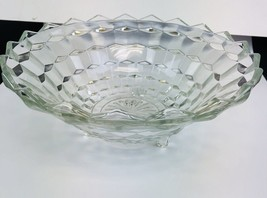 INDIANA GLASS CO. WHITEHALL CUBIC / American Style Footed Serving Bowl - $24.75