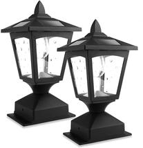 2 Pack Post Lights Outdoor Solar Lamp Post Cap Lights Wood Fence Posts P... - $56.32