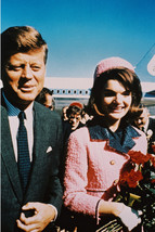 John F. Kennedy with Jacqueline Kennedy in Dallas 1963 at airport 18x24 Poster - $23.99