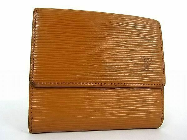 Primary image for Authentic Louis Vuitton Brown Epi  Leather Porto Monet  Tri Fold Wallet Purse