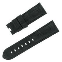 Panerai 24-22mm Negro Piel Caimán Hombres Correa de Reloj - $498.11