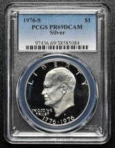 1976S SILVER PROOF EISENHOWER DOLLAR PCGS PR69DCAM COIN SKU C99