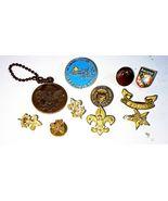 VINTAGE BOY SCOUTS PINS Lot - Plus Key Chain - Canada Button  - $8.06