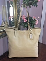 Coach Bag Madison Leather North South Tote Shoulder Nude F26225 B2G - $94.04