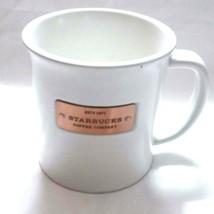 Starbucks mug Large 2010 copper nameplat - $11.61