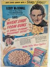 RODDY MCDOWALL 1945 Quaker Oats Puffed Wheat Sparkies Print Ad Cincinnati  - $24.75