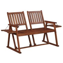 "vidaXL Solid Wood Garden Bench Double View 2 Seater 65"" Patio Outdoor Chair - $118.99"