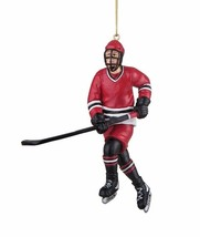 "GALLERIE II 5"" HAND PAINTED RESIN HOCKEY PLAYER SPORTS THEME CHRISTMAS O... - $15.88"