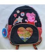"Peppa Pig Rainbow Hearts Backpack Full Size 16"" Kids - $21.77"