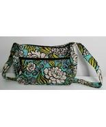 Vera Bradley Island Blooms Floral Print Green Blue Quilted Shoulder Bag ... - $14.99