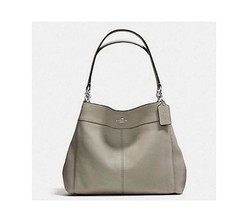 New Coach 57545 Lexy Shoulder Bag handbag Gray Fog tote - $137.61