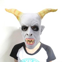 Artificial Halloween Latex Ghost Face Mask(LIGHT GRAY) - £12.74 GBP