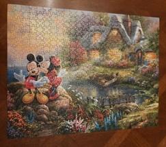 Mickey and Minnie Mouse Disney Belle Thomas Kinkade Disney Puzzle 500 Piece - $11.88