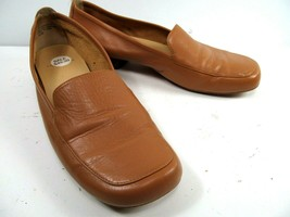Anne Klein  Womens Loafers Size 6.5 M Slip on Shoes Leather Uppers Tan - $21.78