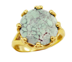 excellent Turquoise Gold Plated Multi Ring genuine regular US gift - $27.99