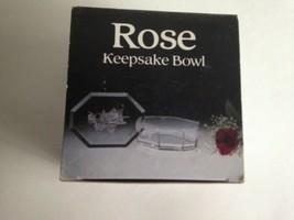 "VTG Plastic Resin Trinket Box Rose Keepsake Bowl USA Made New Old Stock 4X3X1""  - $10.64"