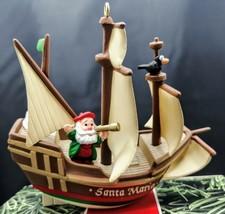 Vintage Hallmark Keepsake Ornament Columbus Ship Santa Maria 1992 - $7.91