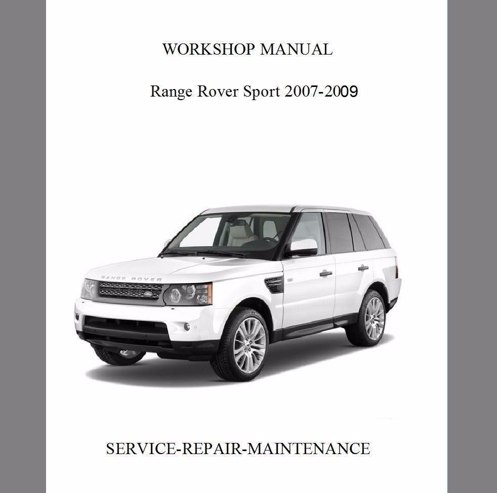 S l1600. S l1600. RANGE ROVER SPORT 2007-2009 WORKSHOP SERVICE REPAIR MANUAL