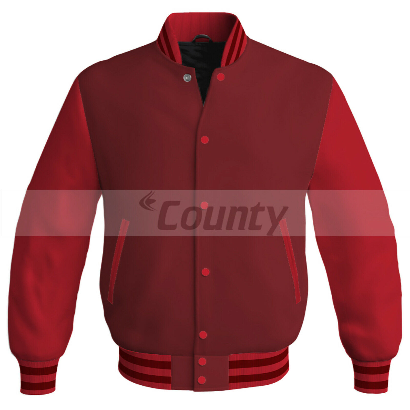 Primary image for Letterman Baseball College Super Bomber Jacket Sports Maroon Red Satin