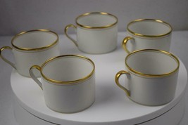 Fitz & Floyd Palais White Flat Cup Coffee Set of 5 - $30.00
