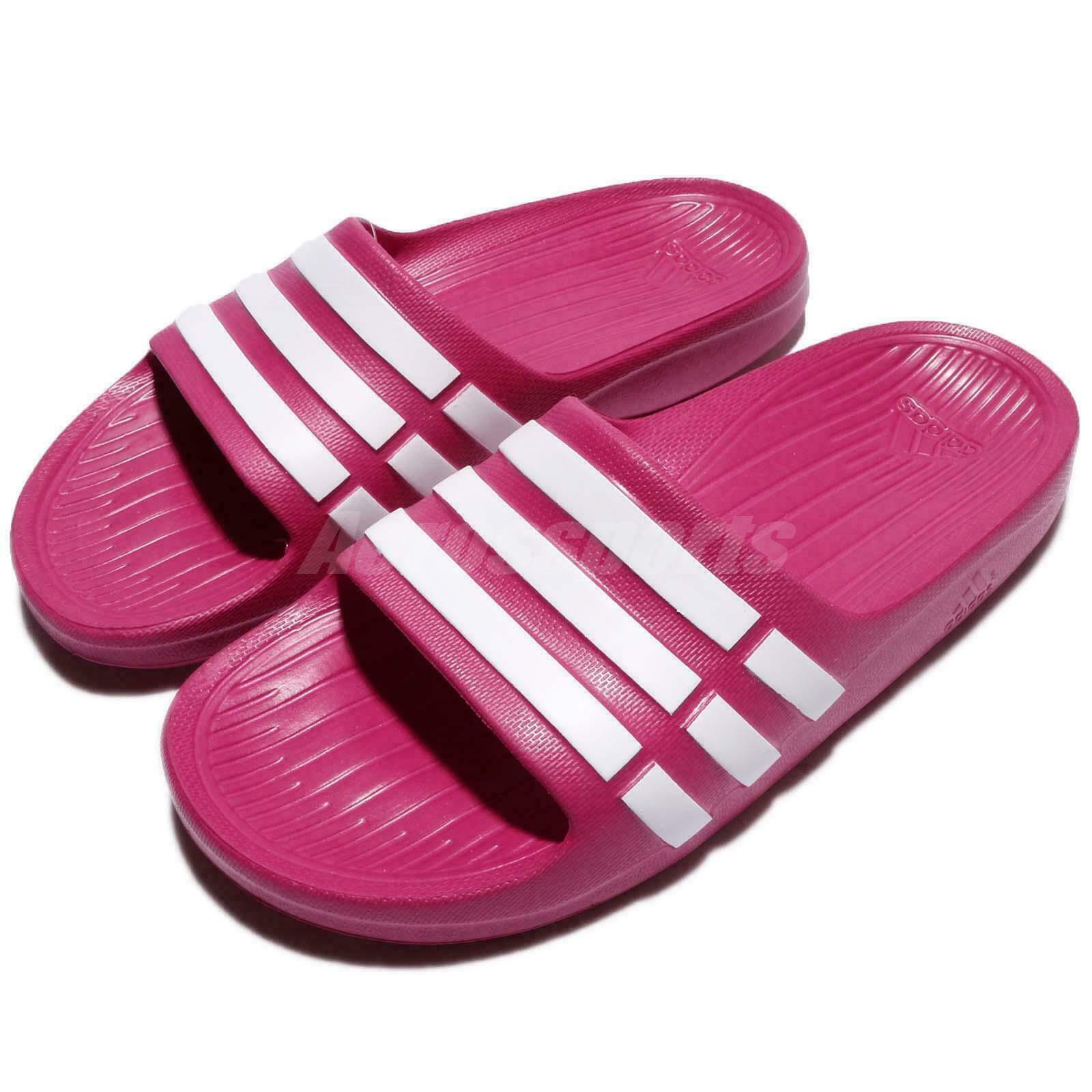adidas Duramo Slide K Pink White Kids Youth Girls Sports Sandal G06797 S-6
