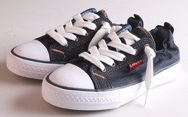 New Levi's Denim Blue Girls Stan G Canvas Sneakers Gym Shoes New in Box 1091100 image 1