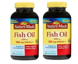 Nature Made FISH OIL 1200 Mg (360 Mg OMEGA-3) 2X200 Liquid Softgels,400 ... - $26.14