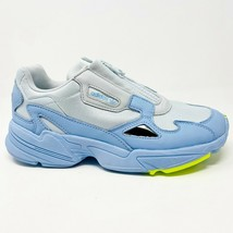 Adidas Originals Falcon Zip Glow Blue Grey Neon EF1969 Womens Sneakers - $74.95