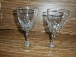 "2 Cristal d'Arques 24% Lead Crystal Flamenco Stemmed Wine Glasses - 6"" - $7.91"