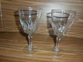 "2 Cristal d'Arques 24% Lead Crystal Flamenco Stemmed Wine Glasses - 6"" - $7.91"