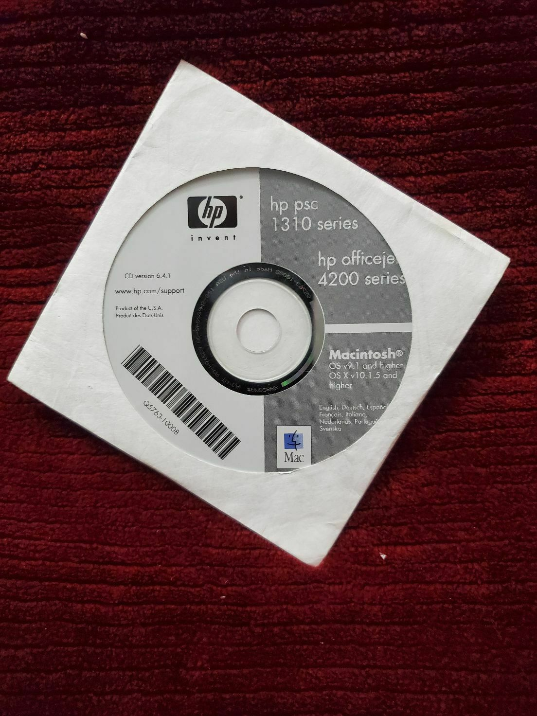 Primary image for SOFTWARE CD DISC FOR HP OFFICE JET 4200 PSC 1310 INVENT